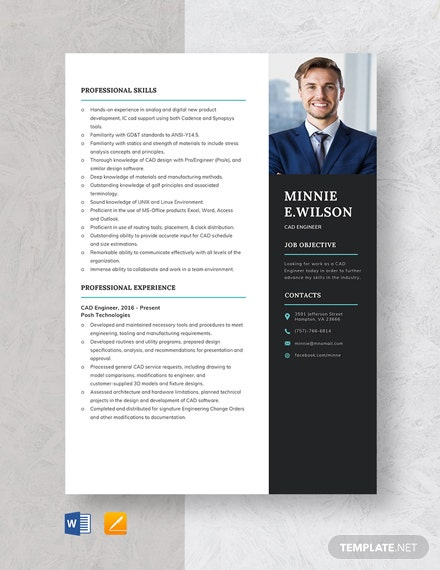 CAD Engineer Resume Template