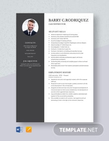 CAD Instructor Resume Template