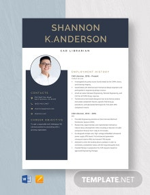 CAD Librarian Resume Template