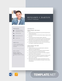 Capacity Manager Resume Template