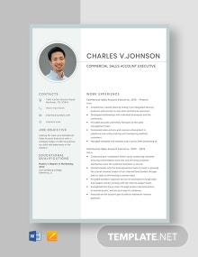 Commercial Sales Account Executive Resume Template
