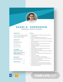 Commercial Property Manager Resume Template