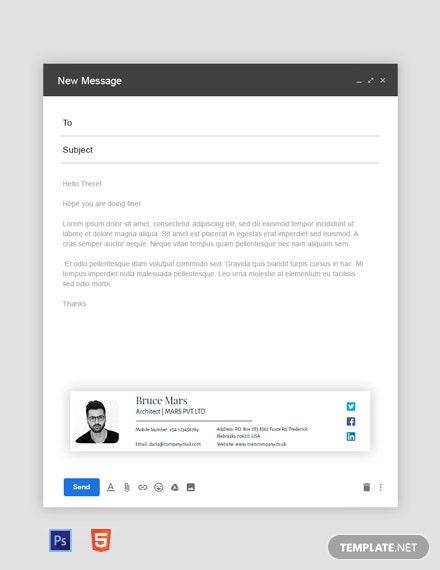 Free architect Email Signature Template