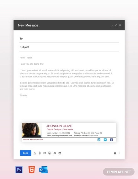 Free Graphic Designer Email Signature Template