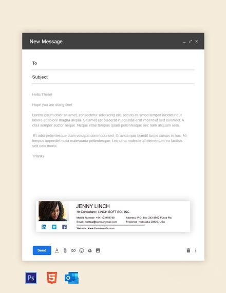 Free HR Consultant Email Signature Template