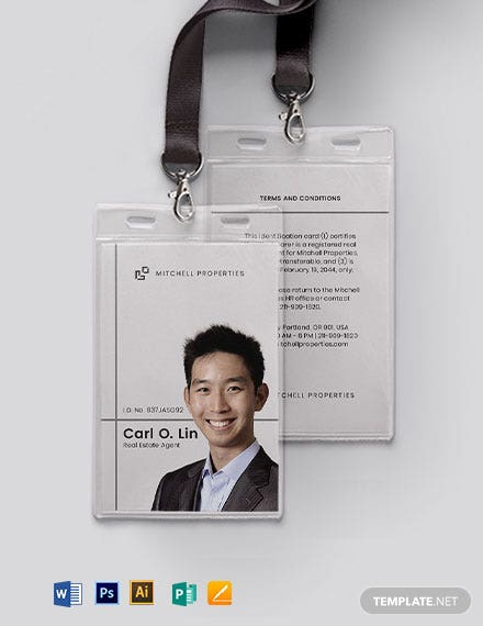 Real Estate Company ID Card Template