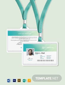 Modern Realtor ID Card Template
