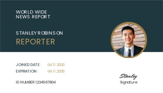 Reporter ID Card Template