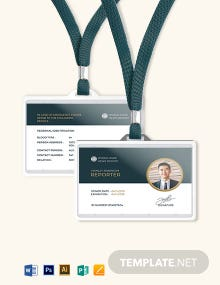 Reporter ID Card Template
