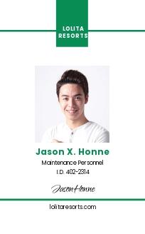 Resort ID Card Template