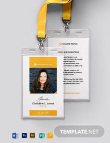 Restaurant ID Card Template