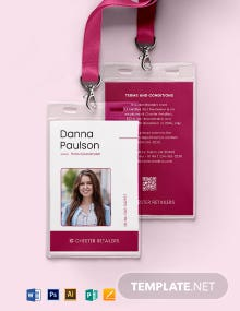 Retail ID Card Template