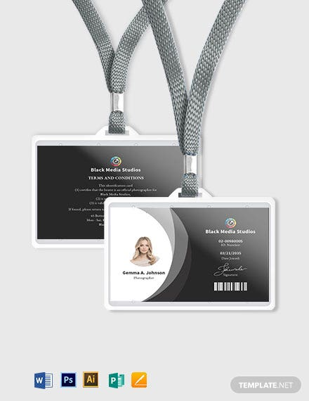 Sample Photographer ID Card Template