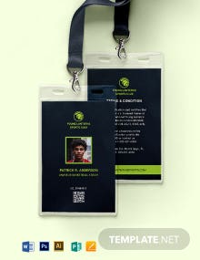 Sample sports ID Card Template