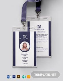 Sample Student ID Card Template