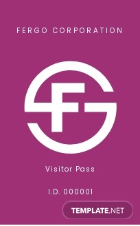 Sample Visitor/Guest ID Card Template