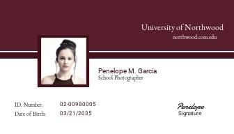 School Photographer ID Card Template