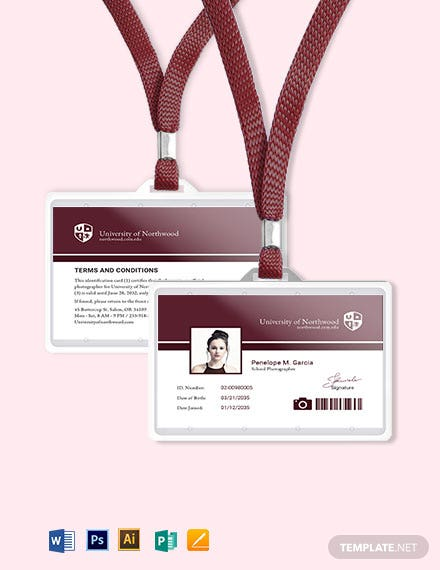 School Photographer ID Card Template