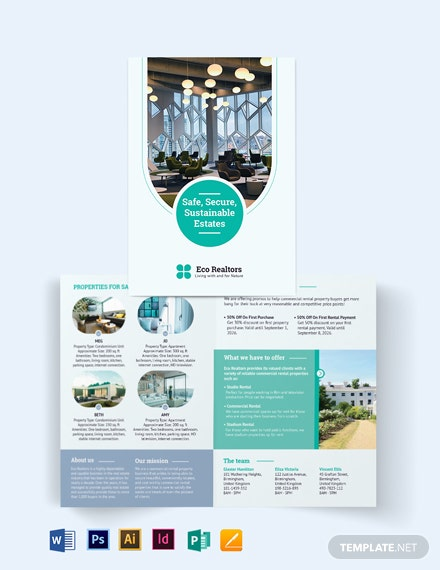Commercial Rental Bi-Fold Brochure Template