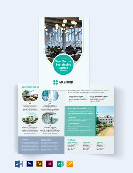 Commercial Rental Bi-Fold Brochure Template
