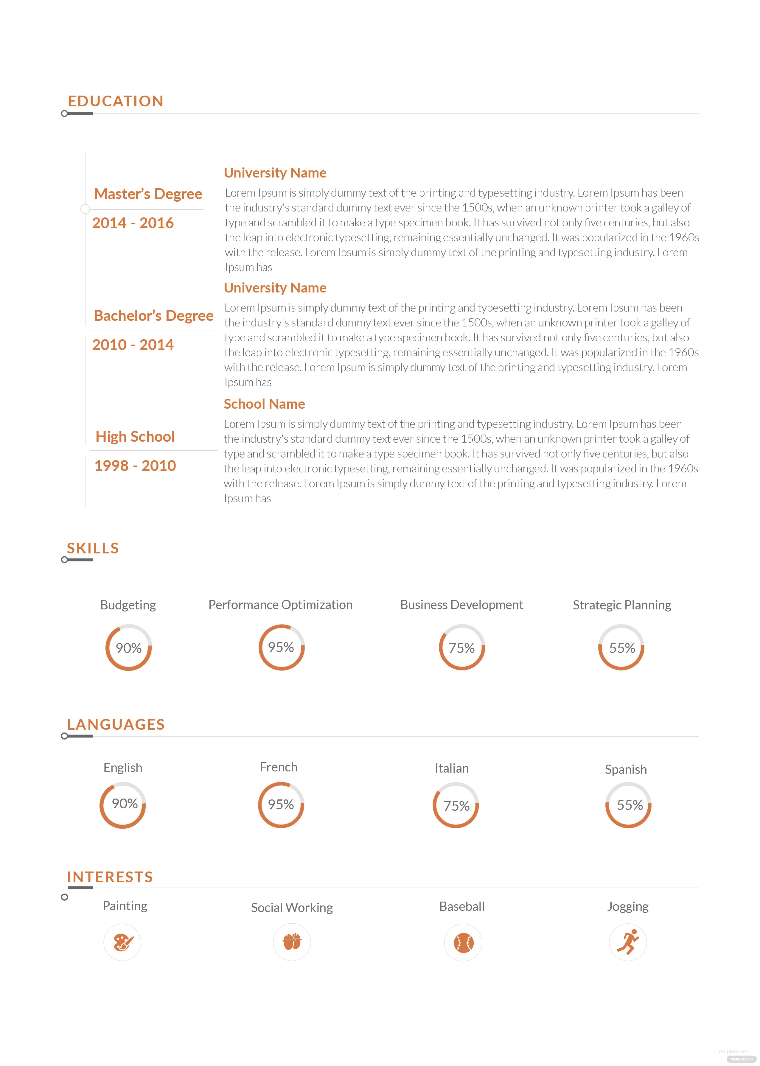 free sales executive resume template in adobe photoshop  indesign  microsoft word  publisher
