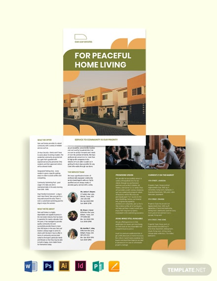 Community Agent/Agency Bi-Fold Brochure Template