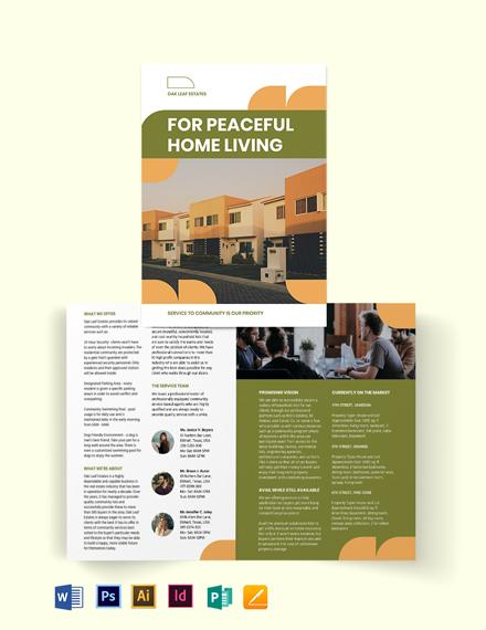 Community Agent/Agency Bi-Fold Brochure Template