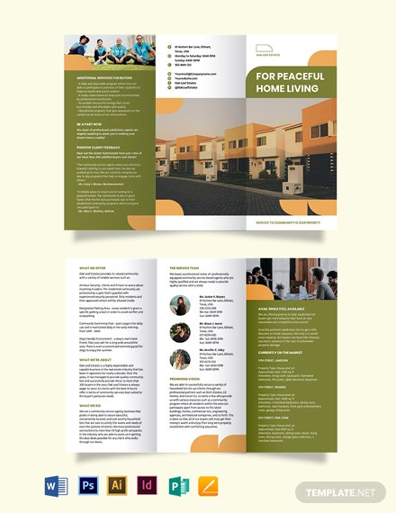 Community Agent/Agency Tri-Fold Brochure Template