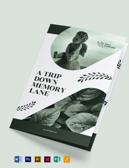 Free Editable Funeral Service Bi-Fold Brochure Template