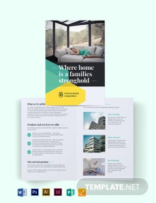 Land Sales Agent/Agency Bi-Fold Brochure Template