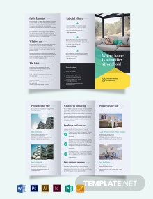 Land Sales Agent/Agency Tri-Fold Brochure Template