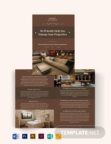 Luxury Property Management Bi-Fold Brochure Template