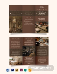 Luxury Property Management Tri-Fold Brochure Template