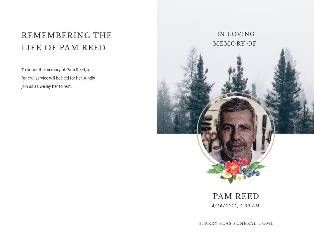 Modern Funeral Obituary Bi Fold Brochure Template.jpe