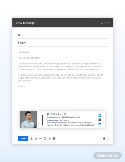 Free Insurance Agent Email Signature Template