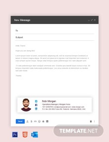 Free Operation Manager Email Signature Template