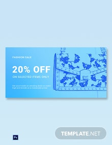 Free Fashion Sale Promotion Blog Post Template