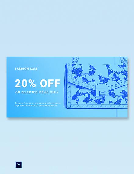 Fashion Sale Promotion Blog Post Template