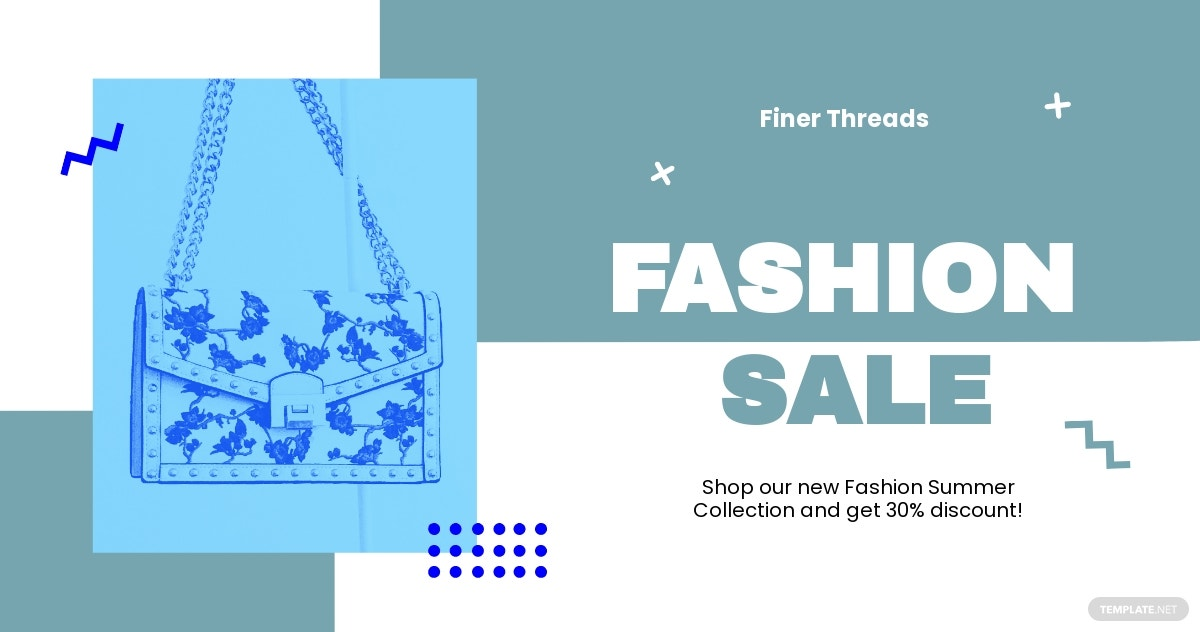 Free Fashion Sale Promotion Facebook Post Template.jpe