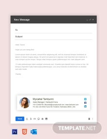 Free Sales Manager Email Signature Template