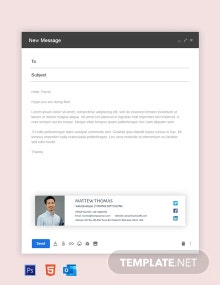 Free Web Developer Email Signature Template