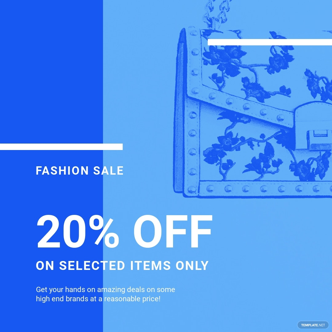 Free Fashion Sale Promotion Instagram Post Template