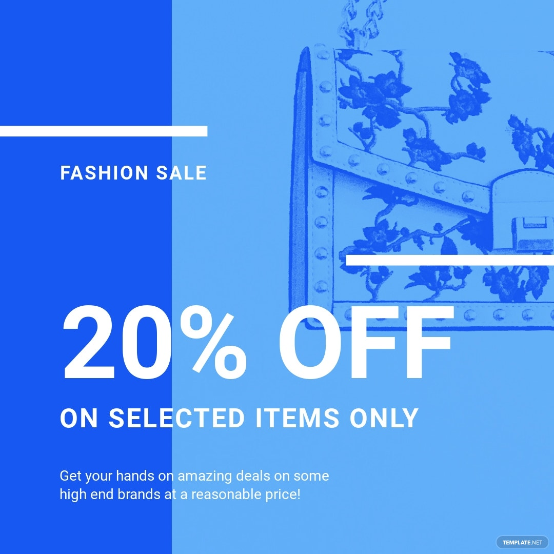 Fashion Sale Promotion Instagram Post Template