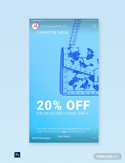 Free Fashion Sale Promotion Instagram Story Template