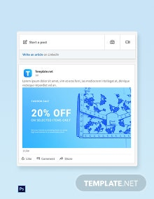 Free Fashion Sale Promotion LinkedIn Blog Post Template
