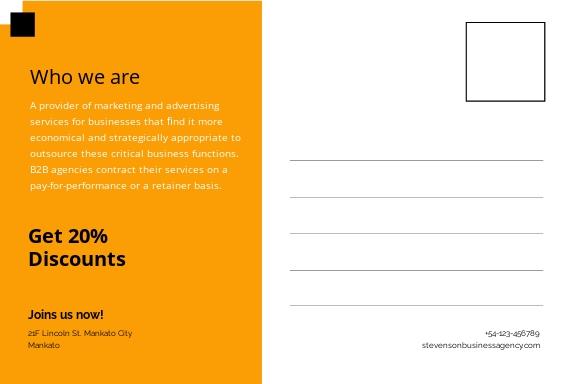 Free Business Agency Postcard Template 1.jpe