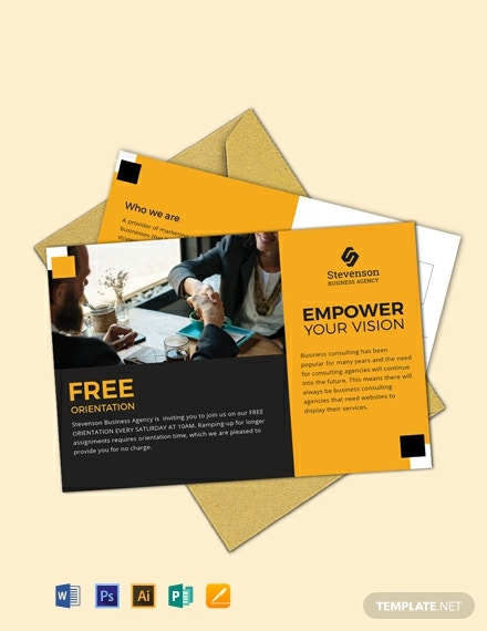Free Business Agency Postcard Template