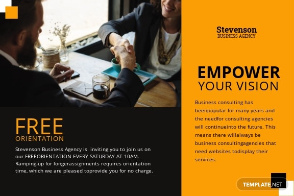 Business Agency Postcard Template