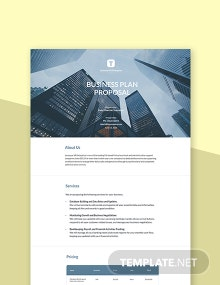 Free Business Plan Proposal Template
