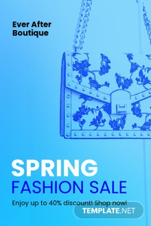 Free Fashion Sale Promotion Pinterest Pin Template